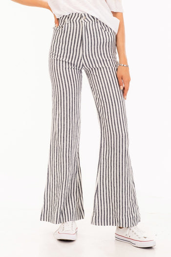 Lets Cruise Together Striped Bell Pants | Necessary Clothing