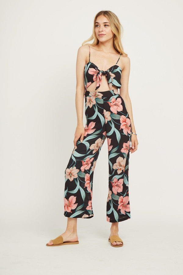 Plane Jumper Floral Printed Jumpsuit in Multi | Necessary Clothing