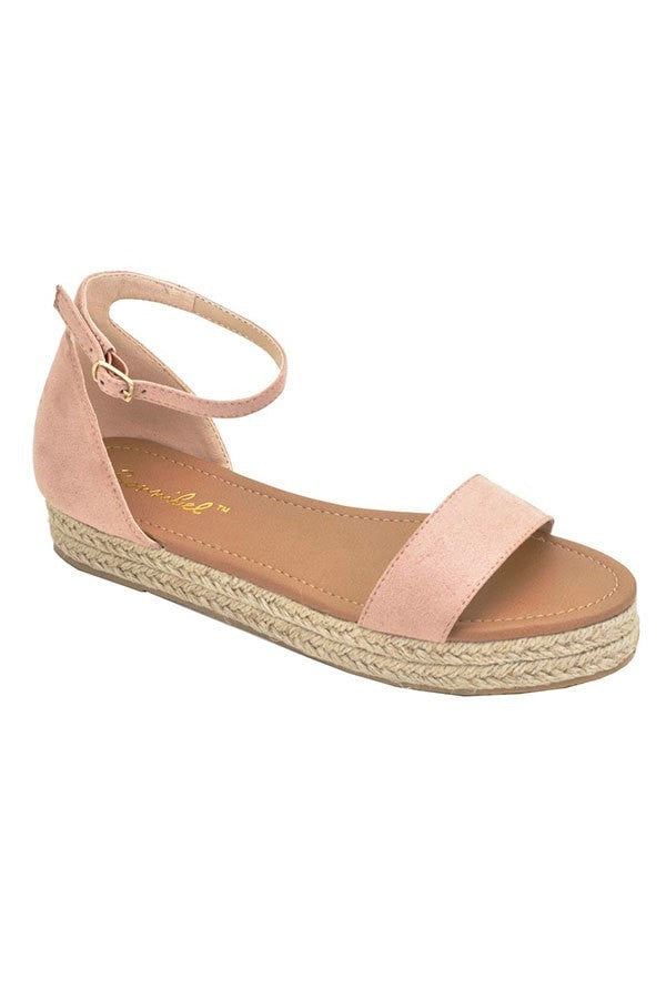 Know The Espadrille Sandals in Blush | Necessary Clothing