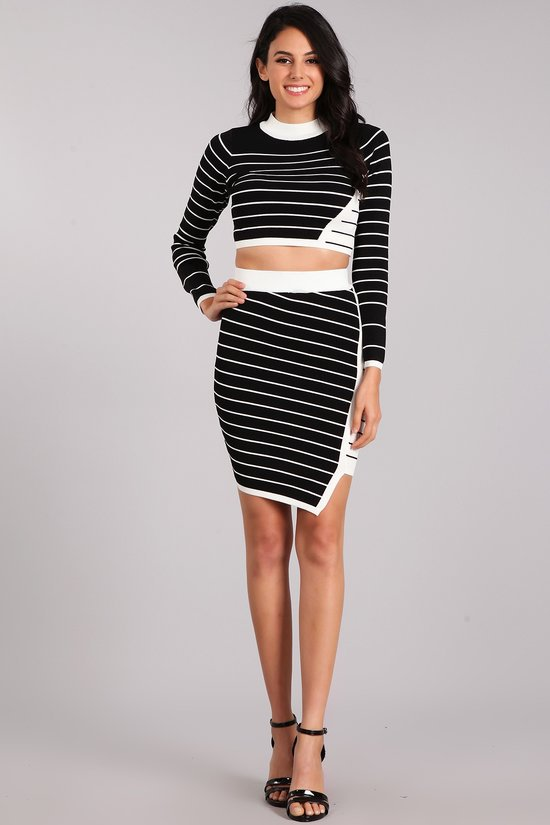 Jail Bird Skirt Set in Black/White | Necessary Clothing