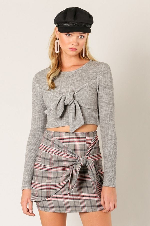 Can Knot Even Crop Sweater in Grey | Necessary Clothing