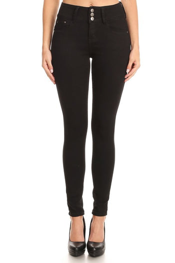 Perfect Fit High Waist Skinny Jeans in Black