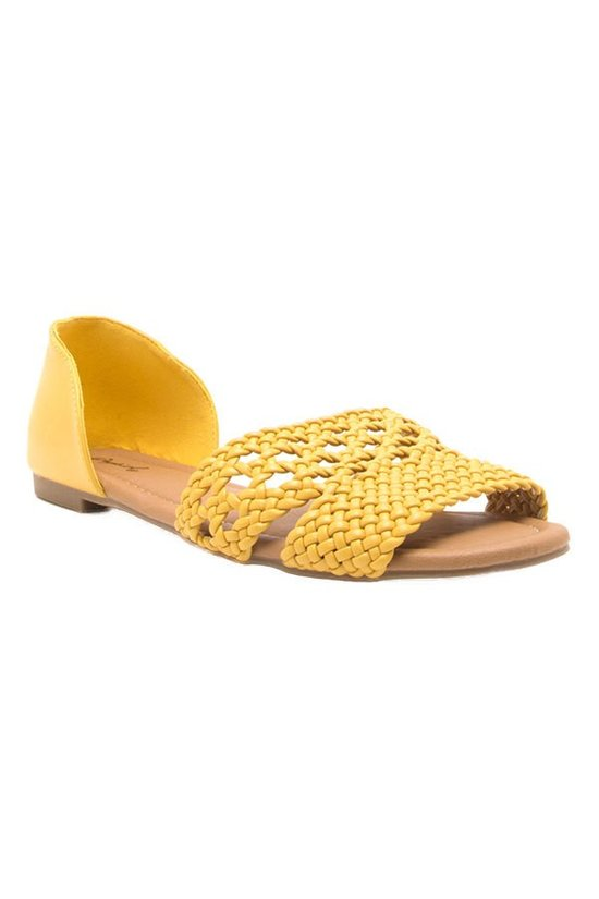 Keep It Cool Flat Sandals in Yellow | Necessary Clothing