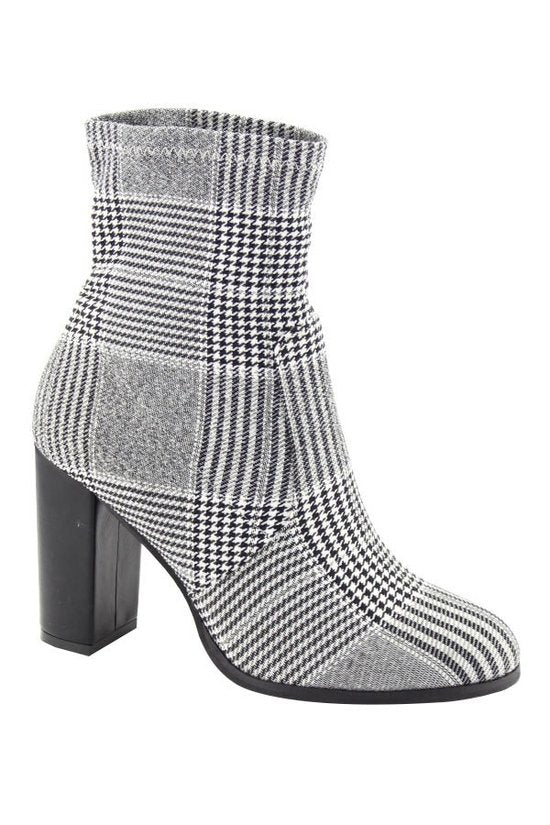 Ain't Nothing But A Houndstooth Booties in Black/White | Necessary Clothing