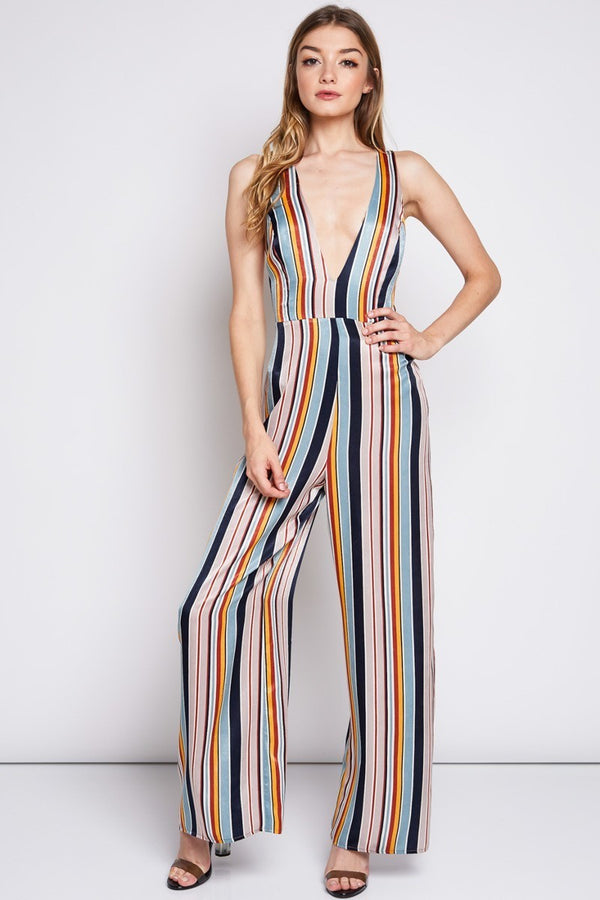 Stand Tall Striped Jumpsuit | Necessary Clothing