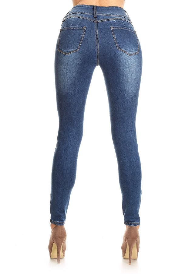 Perfect Curve High Waist Skinny Jeans in Dark | Necessary Clothing