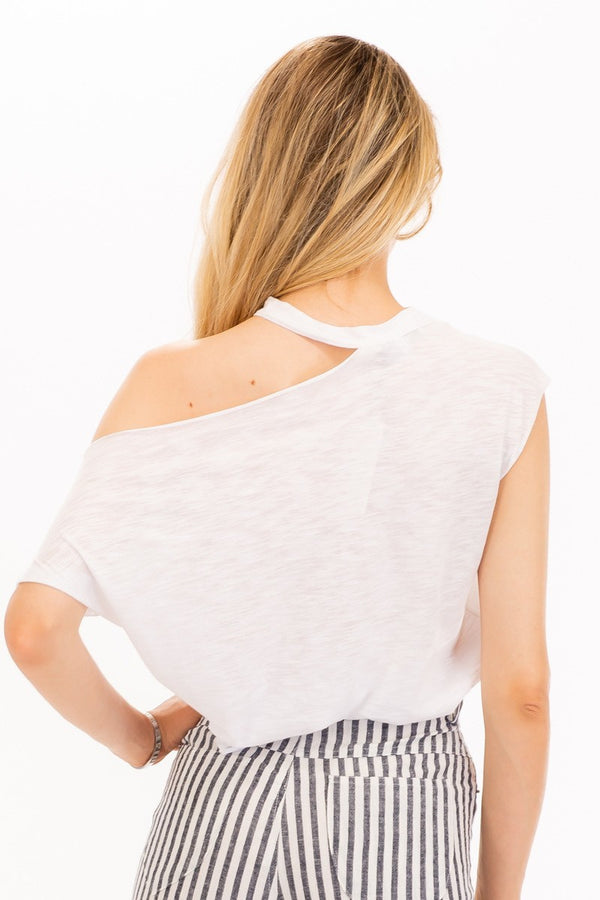 Cut Me Out Asymmetrical Basic Tee