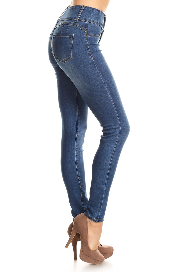 Perfect Curve High Waisted Denim Skinny Jeans