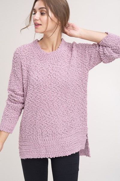 Perfect Pullover Sweater in Mauve | Necessary Clothing
