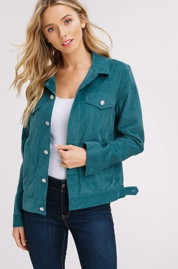 Keep it Classy Corduroy Jacket in Emerald | Necessary Clothing