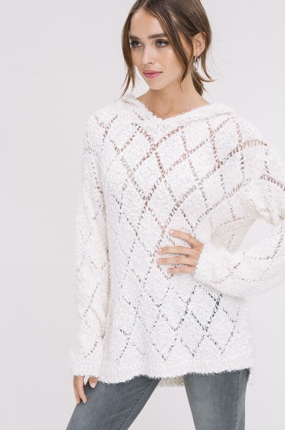 Lie Like A Rug Sweater in Ivory | Necessary Clothing