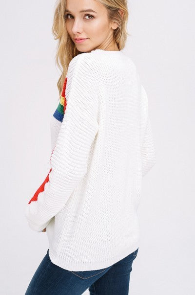Stuck In The Middle Sweater in Ivory | Necessary Clothing
