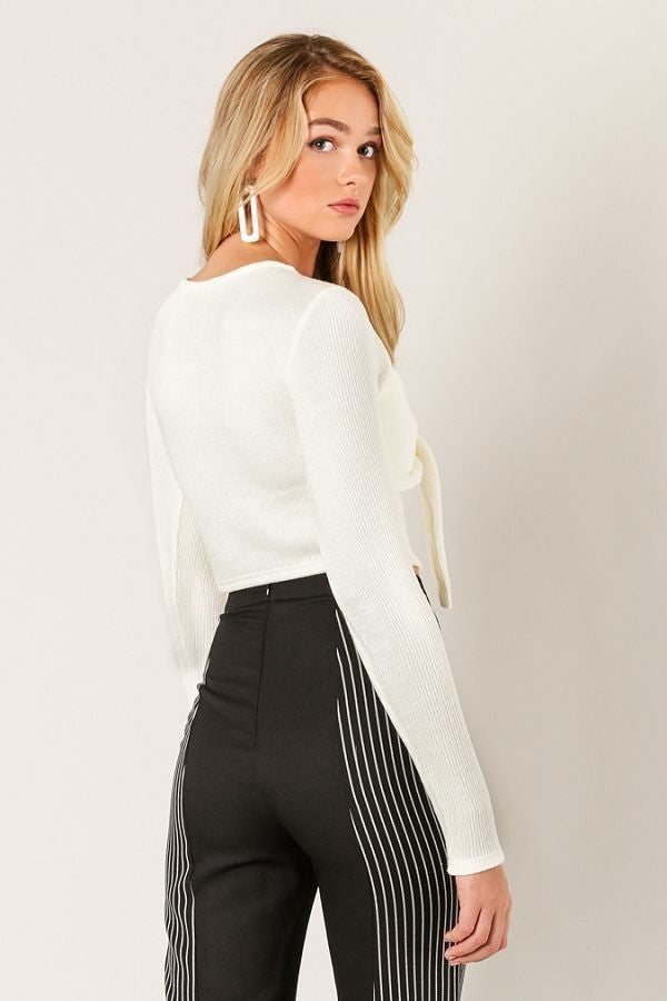 Can Knot Even Crop Sweater in Ivory | Necessary Clothing