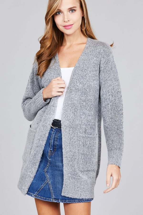 Windy City Cardigan in Heather Grey