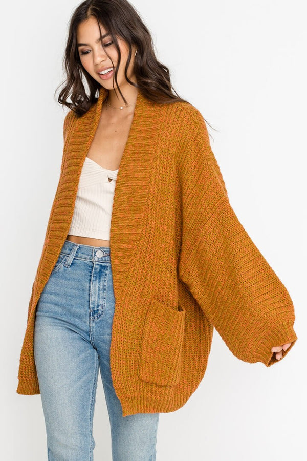 Slouch Potato Oversized Cardigan in Mustard | Necessary Clothing