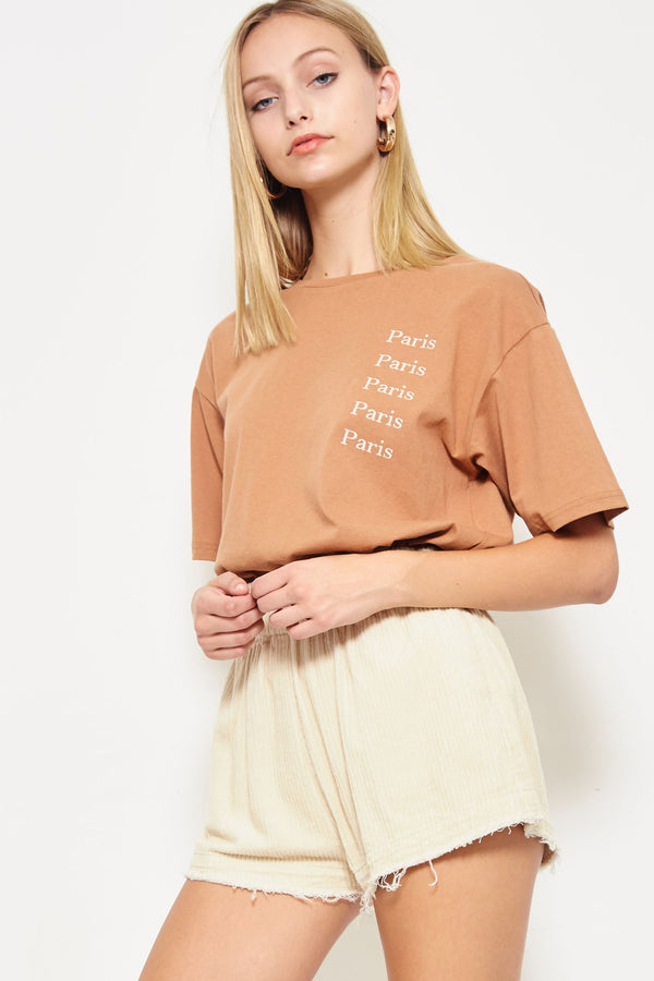 Paris Afternoon Vintage Tee in Bronze