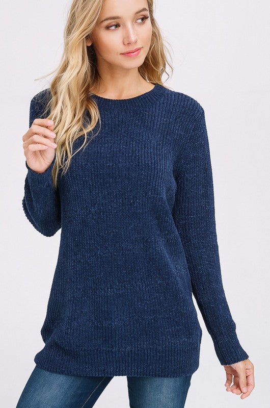 Make The Cut Sweater in Navy | Necessary Clothing