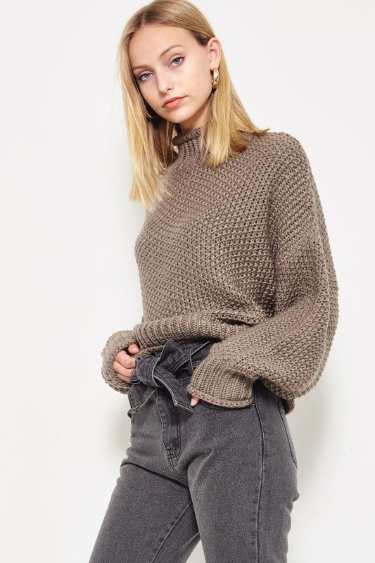 Chunky Brewster Sweater in Olive Grey | Necessary Clothing