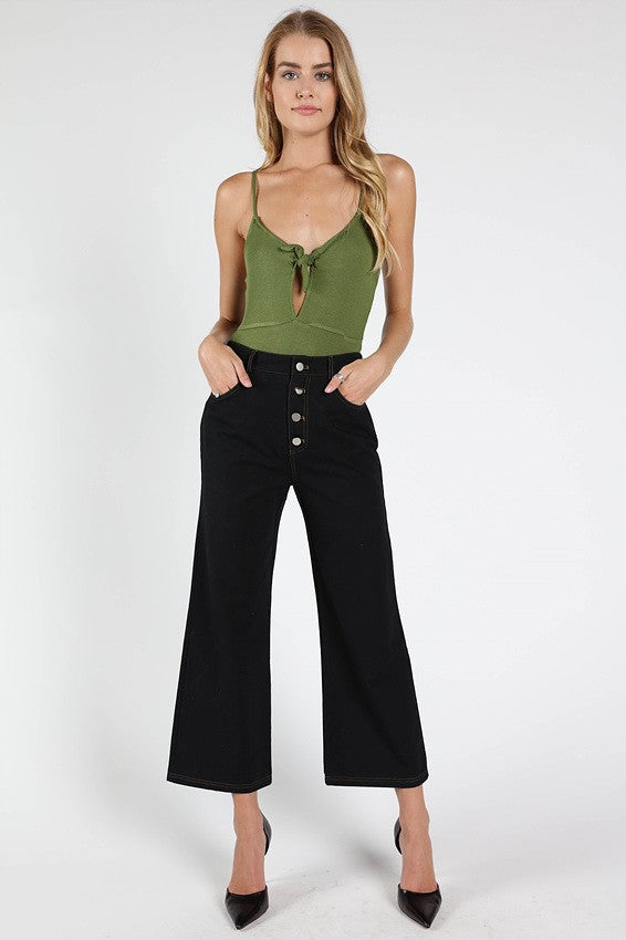 Take A Peek Bodysuit in Olive