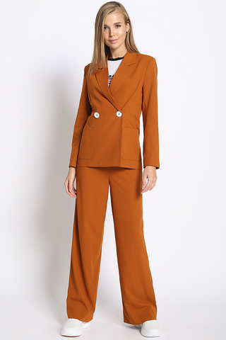 Open For Business Suit Pants in Rust