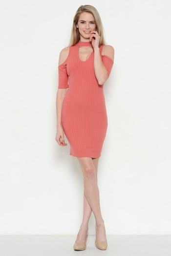 Chokecherry Bodycon Dress in Pink