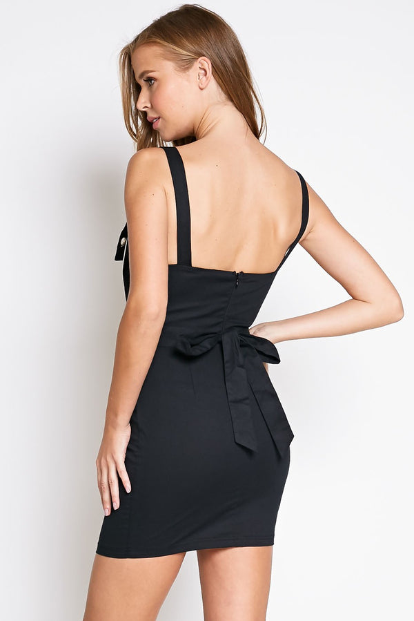 Leave A Grommet Mini Dress in Black | Necessary Clothing