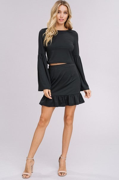 Make Believe Romper in Black | Necessary Clothing