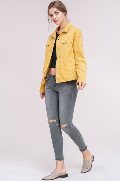 Keep it Classy Corduroy Jacket in Mustard | Necessary Clothing