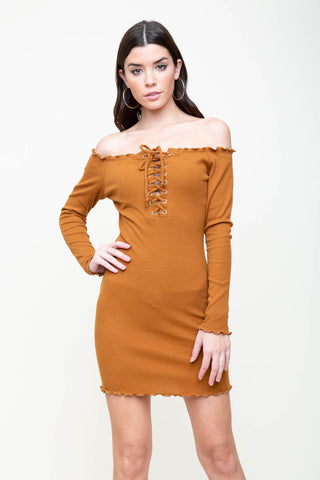Crash Corset Lace Up Dress