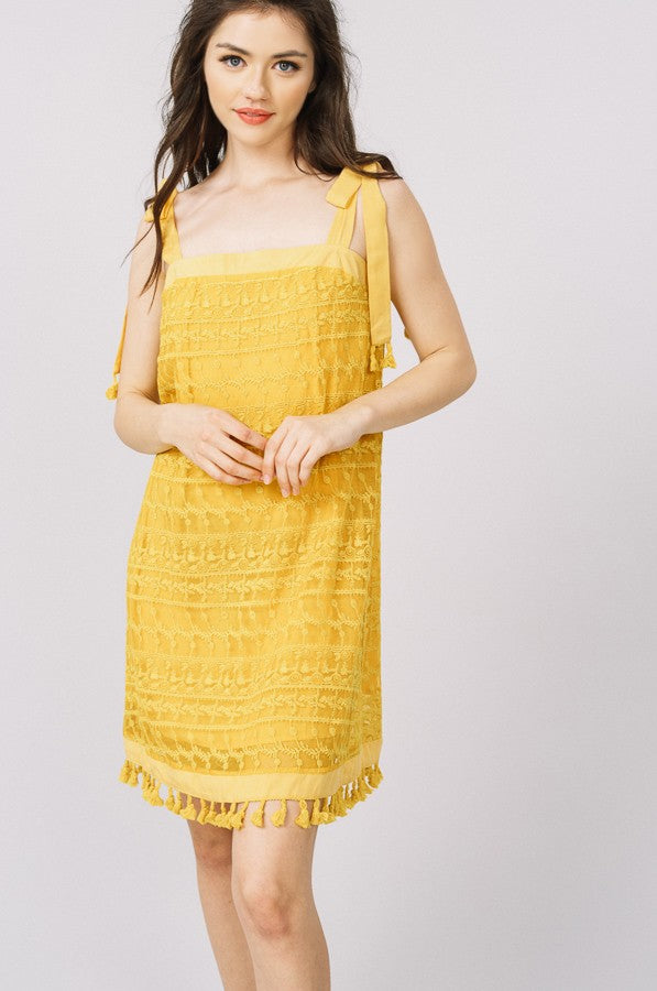 Island Breeze Dress in Yellow | Necessary Clothing
