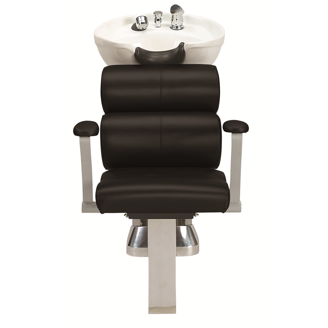 50B Shampoo System, White-Black - Garfield Commercial Enterprises Salon Equipment Spa Furniture Barber Chair Luxury