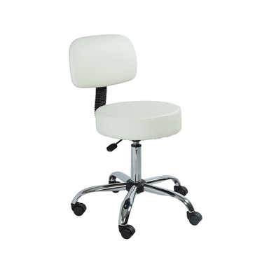 Carlton Spa Task Stool, White - Garfield Commercial Enterprises Salon Equipment Spa Furniture Barber Chair Luxury