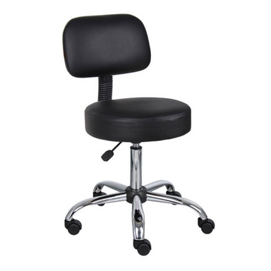 Carlton Spa Task Stool, Black - Garfield Commercial Enterprises Salon Equipment Spa Furniture Barber Chair Luxury