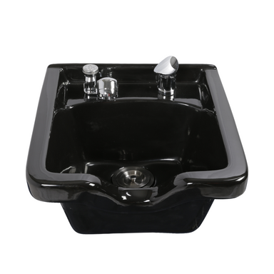 Graeson GN150 Shampoo Bowl, Black - Garfield Commercial Enterprises Salon Equipment Spa Furniture Barber Chair Luxury