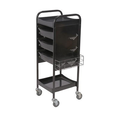 paragon salon cart rollabout hair accessory trolley drawer metal plastic