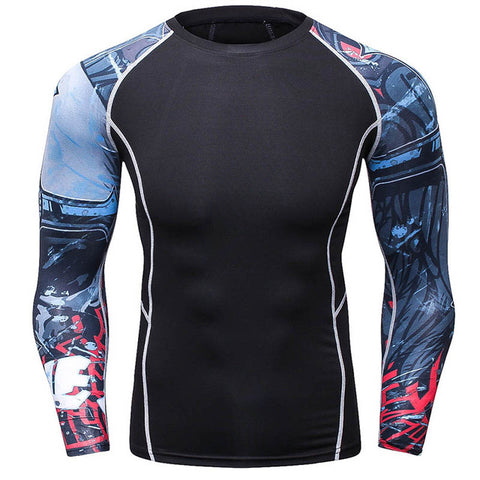 Rash Guard Black Arm Graphics