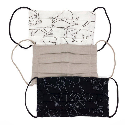 Body Positive Drawing Cotton Mask (3pc Set)