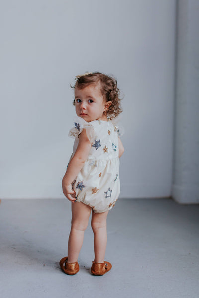 Ivory Tulle and Sequin Star Romper