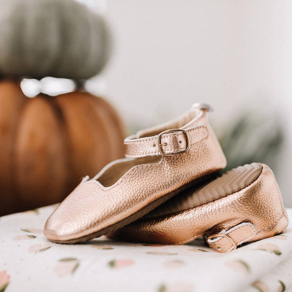 Rose Gold Moccasin (size 5)