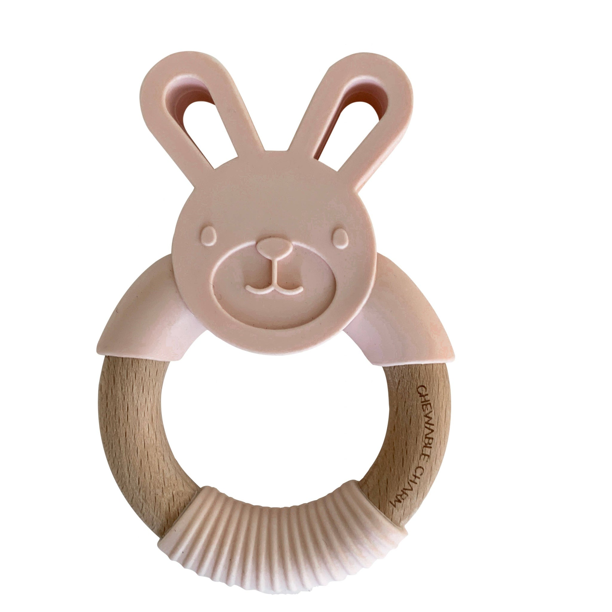 Bunny Silicone + Wood Teether (Ballet Slippers)