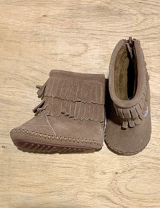 Brown Moccasin Boot (Waterproof sole)