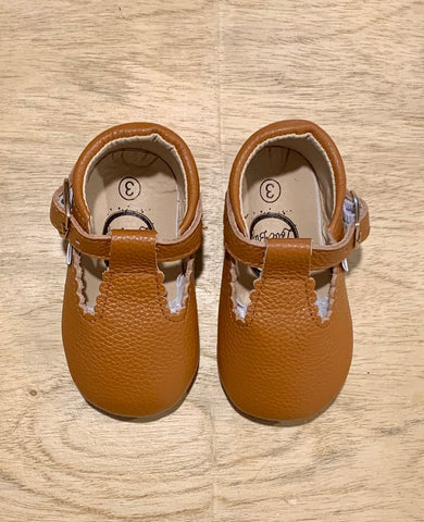 Pecan Tbar Moccasin (size 3 & 4)