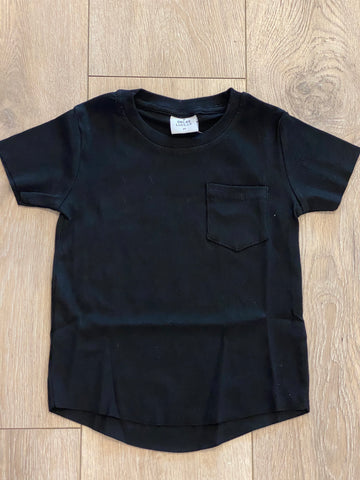 Ribbed Pocket Tee - Black