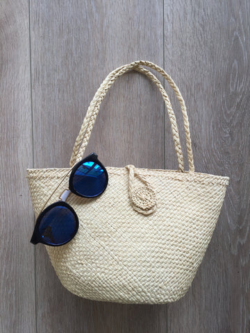 Hand Crafted Woven Purse -Vanilla
