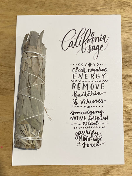 Caliornia Sage With Handlettered Card