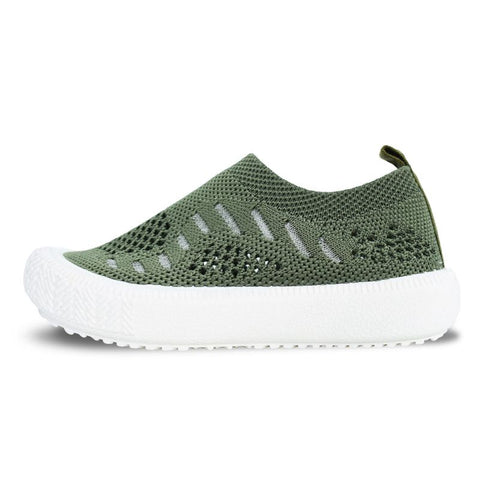 Army Green Knit Shoe