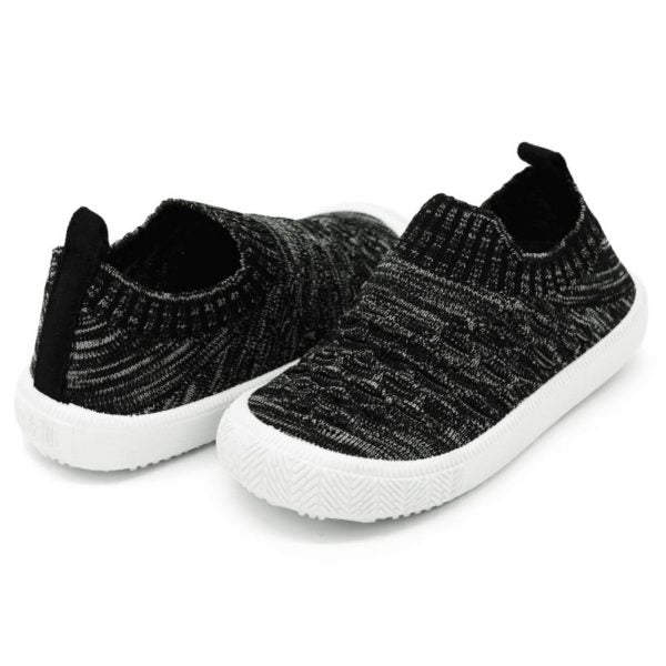 Heather Black Knit Shoe