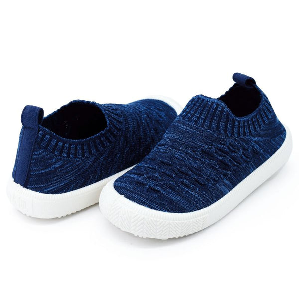 Heather Navy Knit Shoe