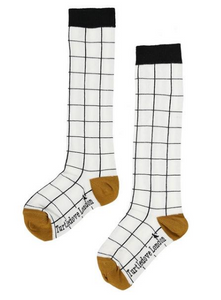 Grid Knee High Socks