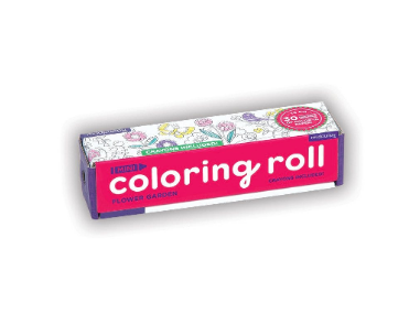 Flower Garden Mini Coloring Roll
